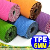 【SAN SPORTS】環保TPE 6MM雙色瑜珈墊(加長版)C155-15