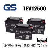 【進煌】GS 台灣杰士 TEV12500 12V50Ah 電動代步車電池