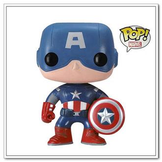 摇头公仔-美国队长(卡通可爱造型卡通系列卡通图案q版公仔摇头娃娃
