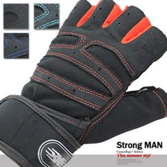 纏繞式半指護腕運動手套 E006-0048